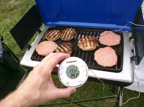My turkey burgers with Cuisinart temp gauge